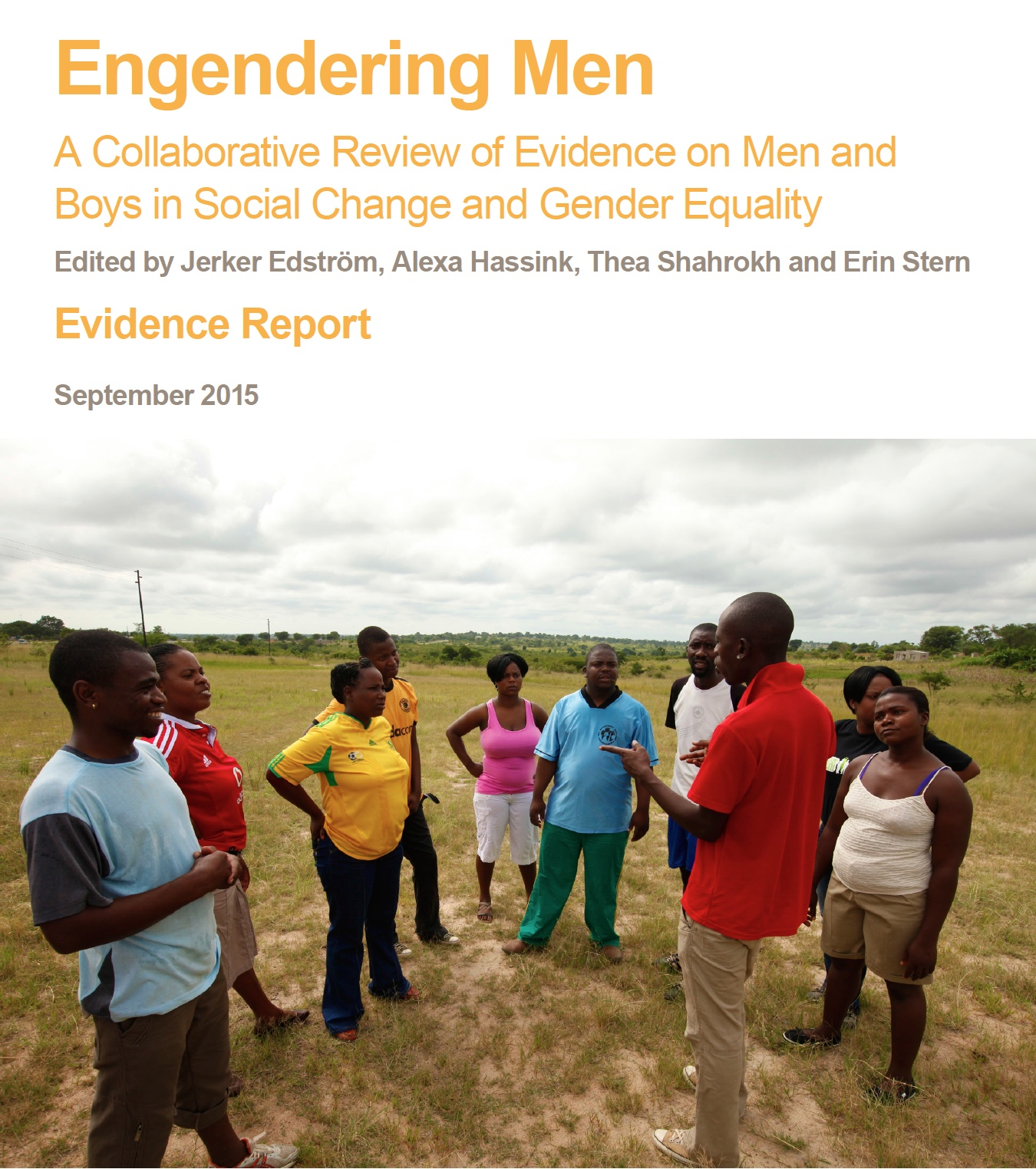 EMERGE, Collaborative Review of Evidence on Men and Boys - Evidence REPORT 2015 Cover