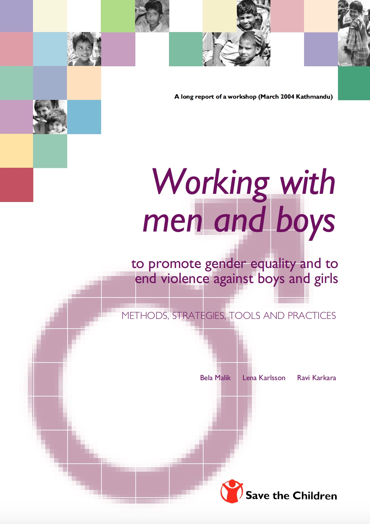 Malik, Working with men and boys - Save The Children 05 - Cover