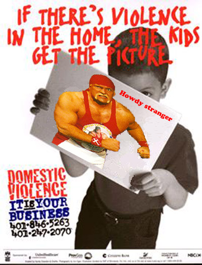 If there's violence in the home kids get the picture