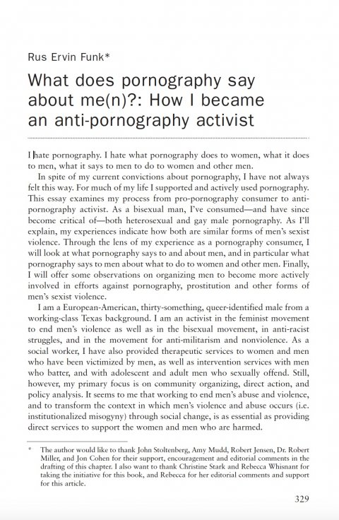 Funk, What does pornography say about me(n) - 1st page