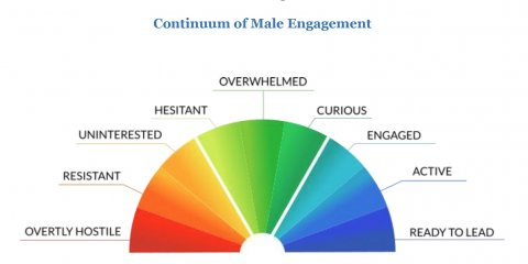 Funk, Continuum of Male Engagement 2018 graphic