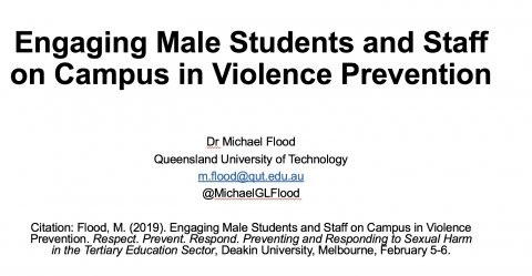 Flood, Engaging Male Students and Staff on Campus in Violence Prevention Title