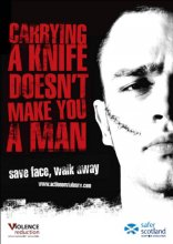 Carrying a knife doesn't make you a man