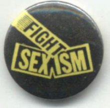 Fight sexism badge