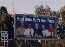 Real men don't use porn Billboard
