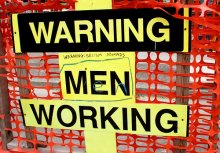 Warning - Men working