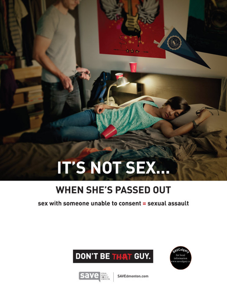 It's not sex - when she's passed out
