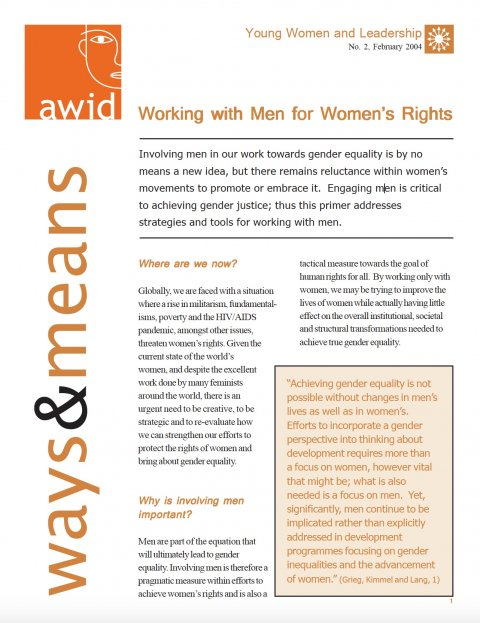 AWID, Working with men for women's rights 04 - Cover