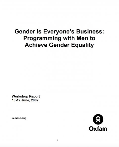 Lang, Gender is everyone's business - Cover