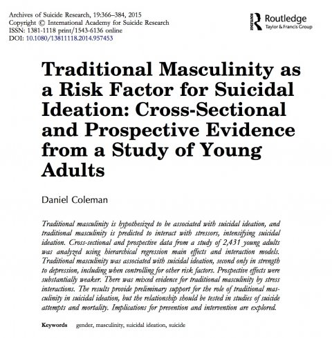 Coleman, Traditional Masculinity as a Risk Factor 2015