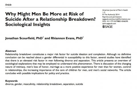 Scourfield, Why might men be more at risk - Abstract
