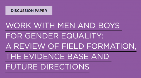 Greig and Flood, Work with men and boys for gender equality 2020 - Cover