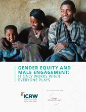 ICRW, Gender Equity and Male Engagement - Cover
